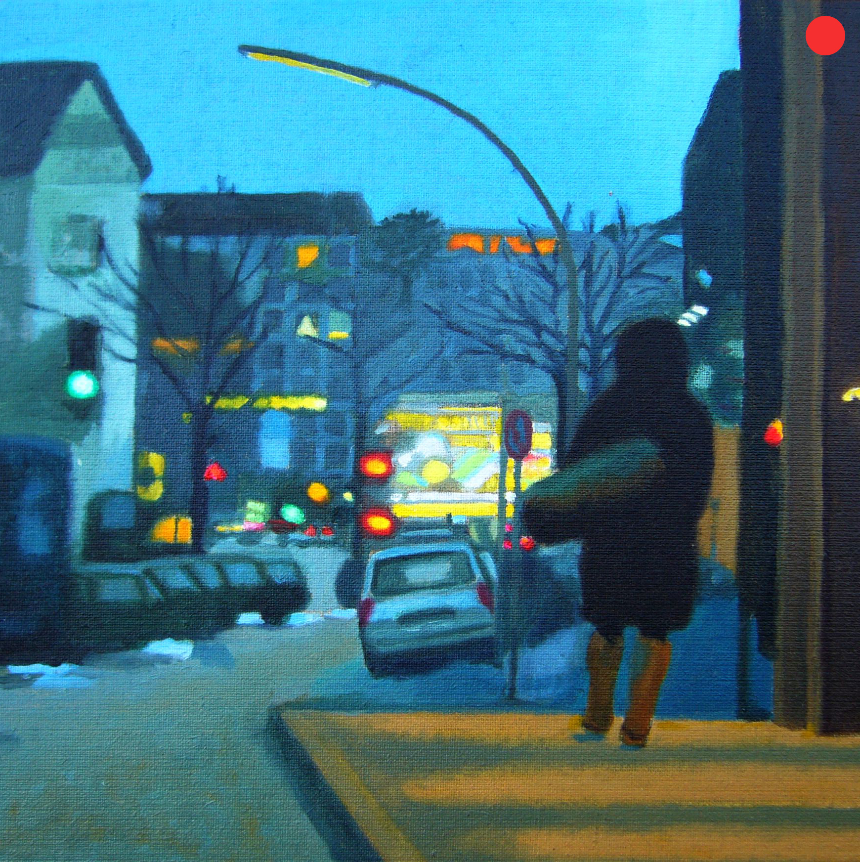 Stresemannstraße, Oil on Canvas, 40 x 40 cm
