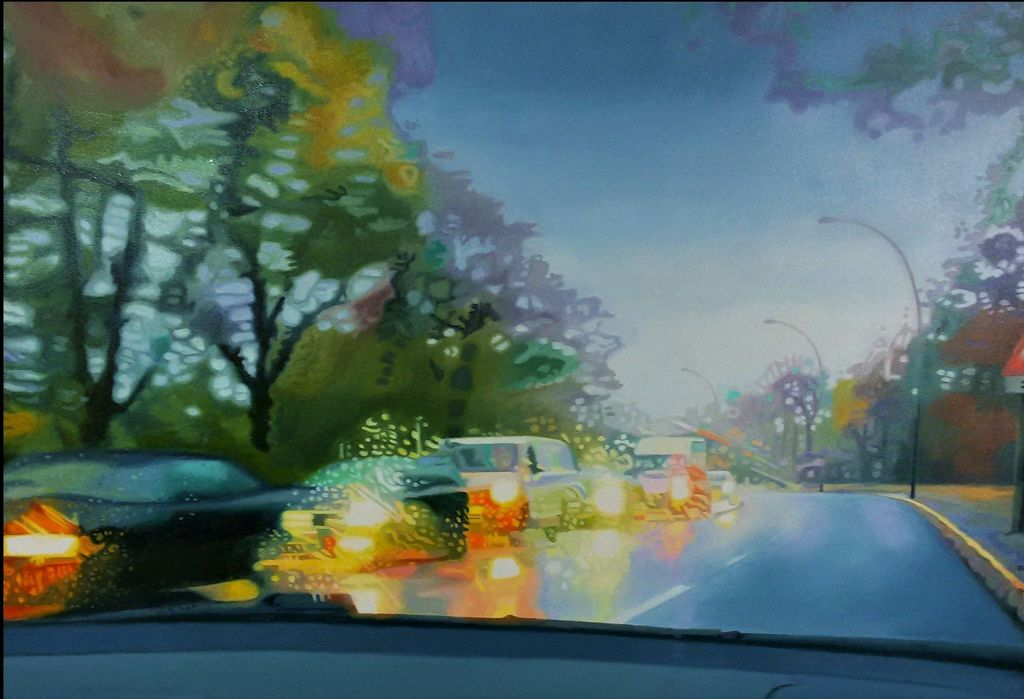 November Road, Oil on Canvas, 90 x 60 cm