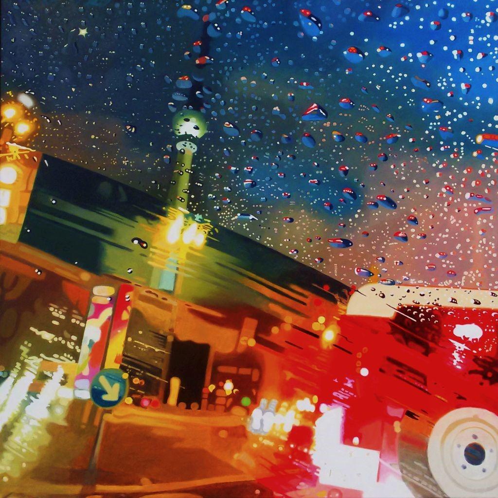 Berlin at Night, Oil on Canvas, 100 x 100 cm