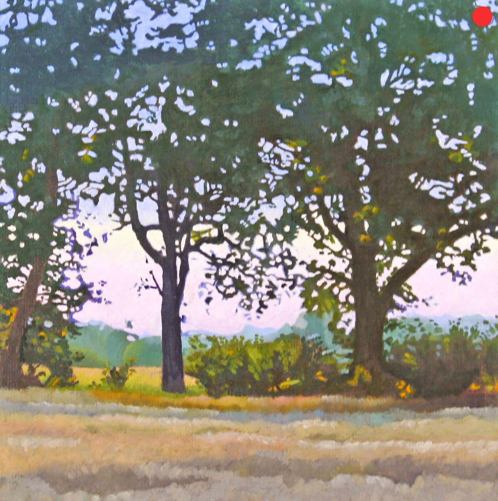 Abend in der Probstei, Oil on Canvas, 40 x 40 cm