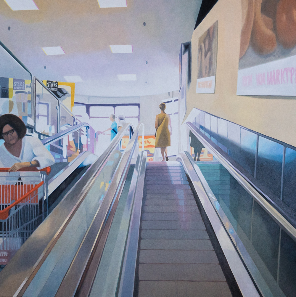 Supermarkt 1, Oil on Canvas
