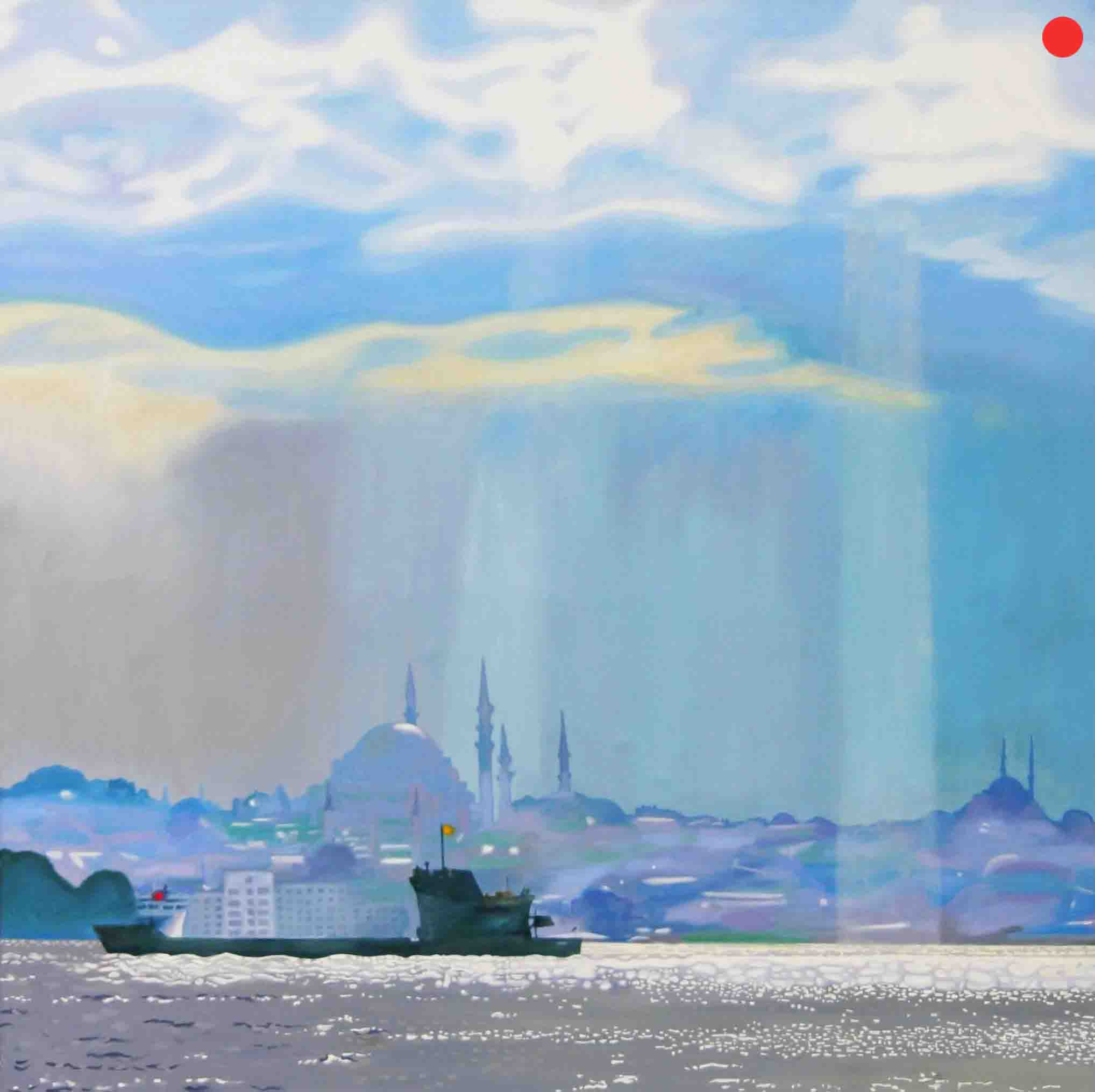 Istanbul, Oil on Canvas, 90 x 90 cm
