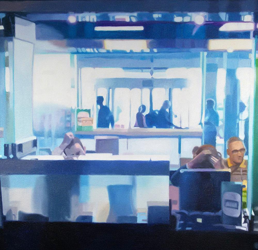 Office, Oil on Canvas