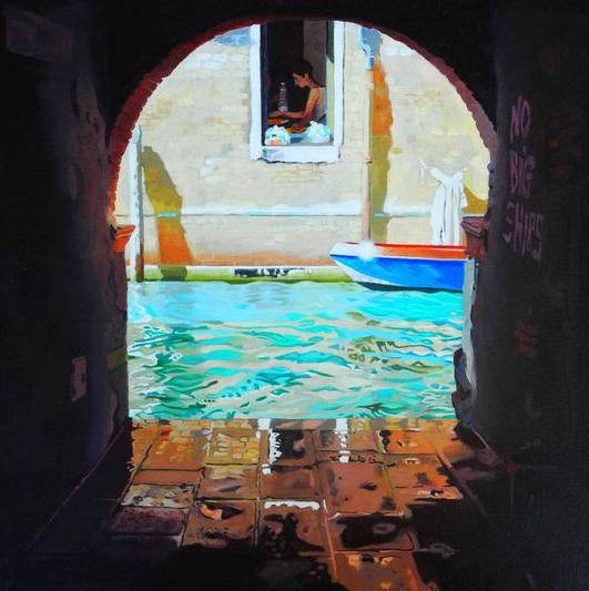 Venice II, Oil on Canvas, 40 x 40 cm