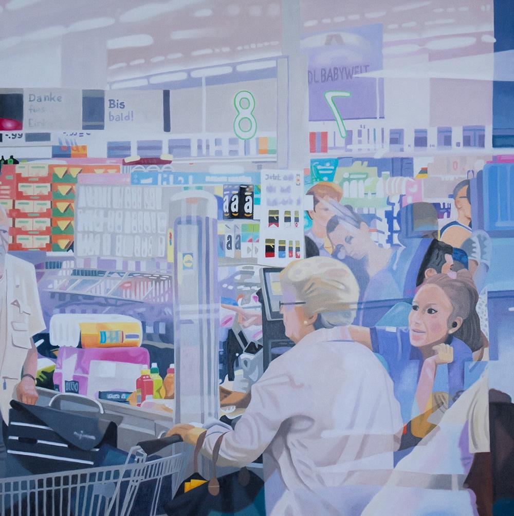 Supermarkt 2, Oil on Canvas
