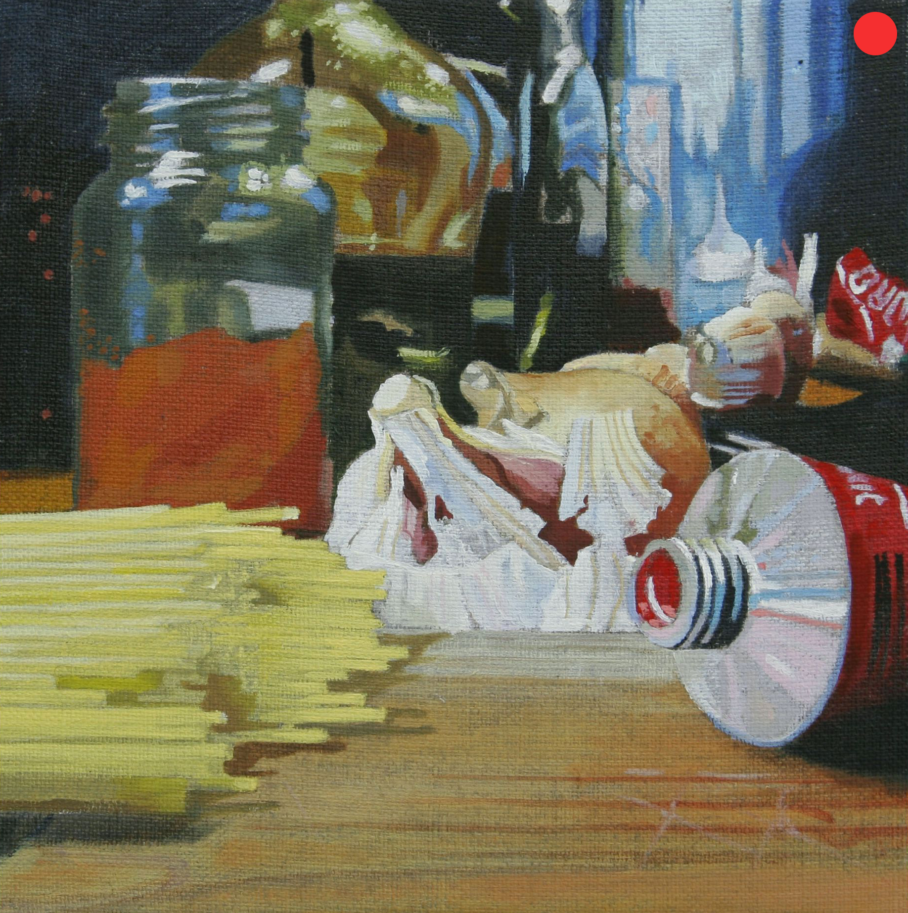Spaghetti Bolognese, Oil on Canvas, 30 x 30 cm