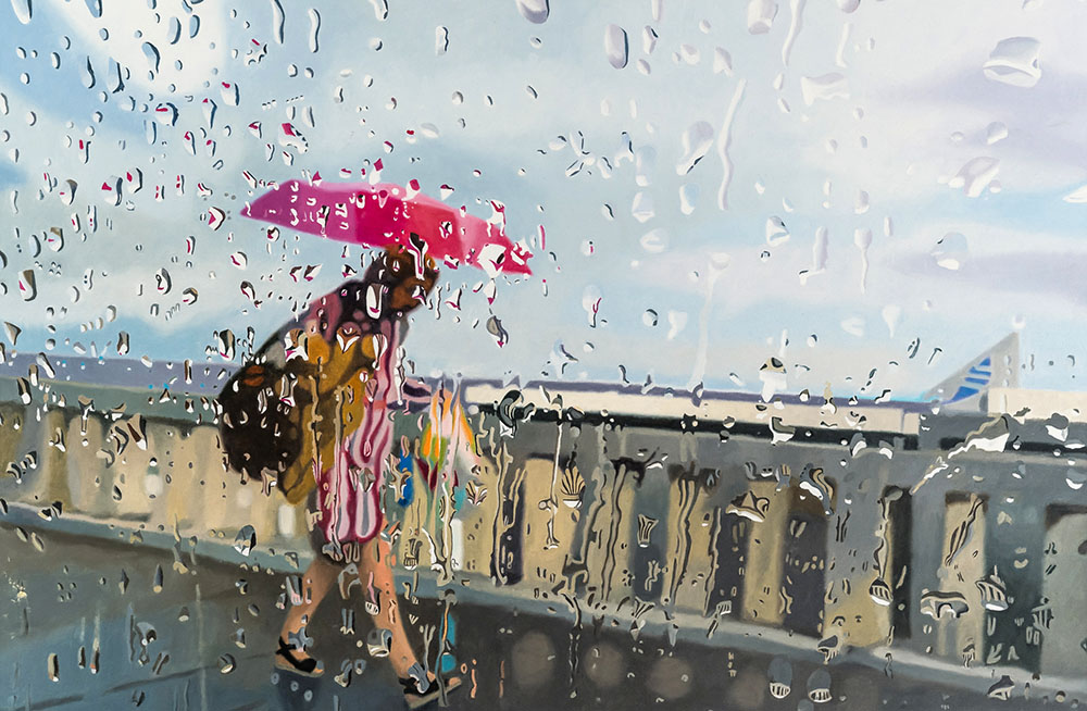Rainy Day I, Oil on Canvas, 120 x 80 cm