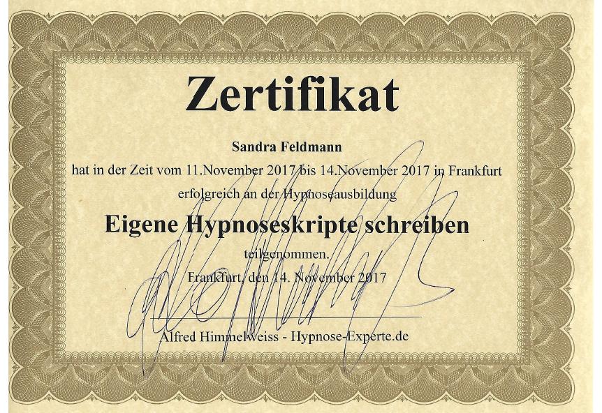 Hypnoseskripte schreigen, A. Himmelweiß