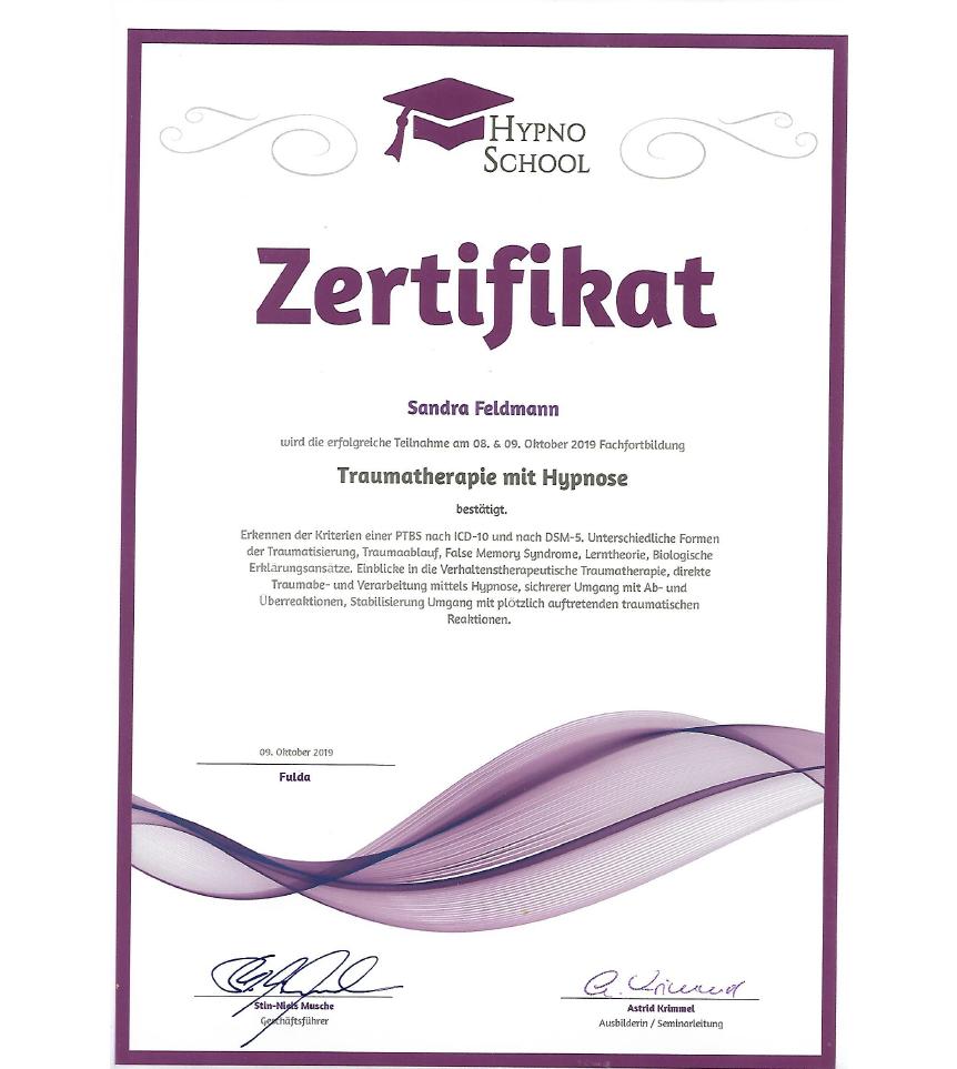 Traumatherapie mit Hypnose, HypnoSchool Hamburg