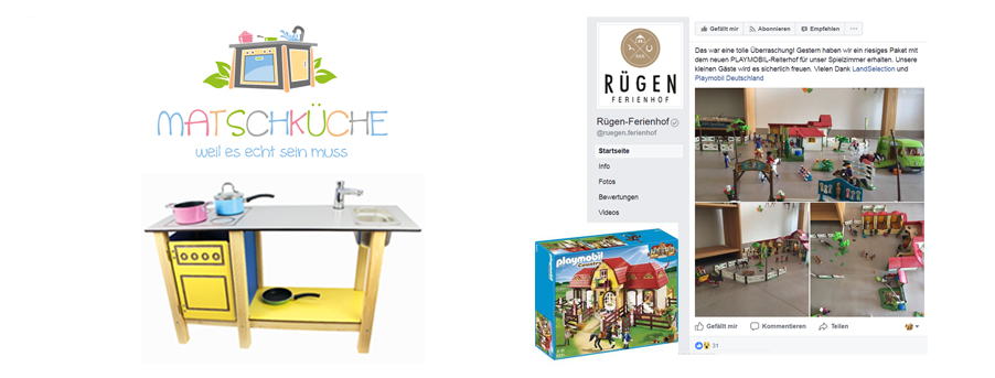 MATSCHKÜCHE hat Spielplätze der LandSelection Höfe mit seinen hochwertigen Küchen ausgestattet. Die neuen playmobil-Reiterhwelten fanden ein neues Zuhause in den Spielzimmern der LandSelection Reiterhöfe.