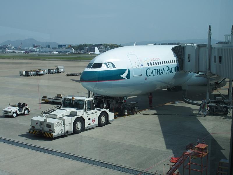 福岡空港 キャセイパシフィック航空(511便)