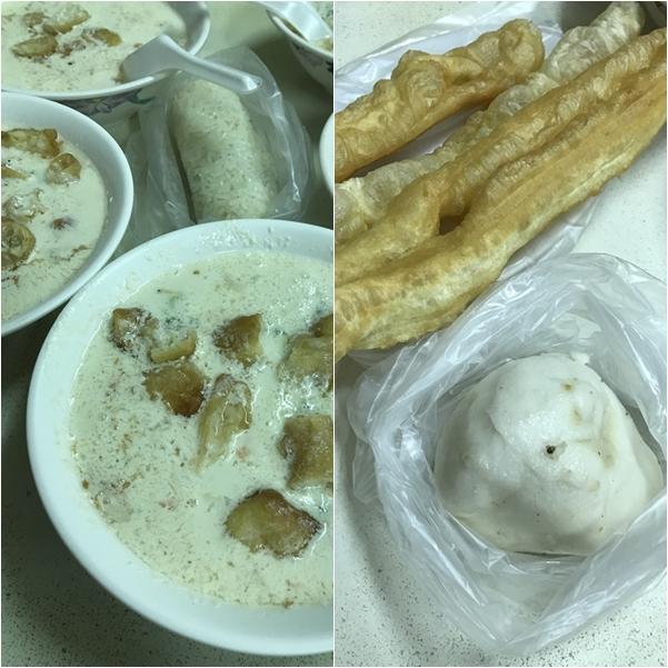 冰豆漿・飯糰・油條ほかを注文