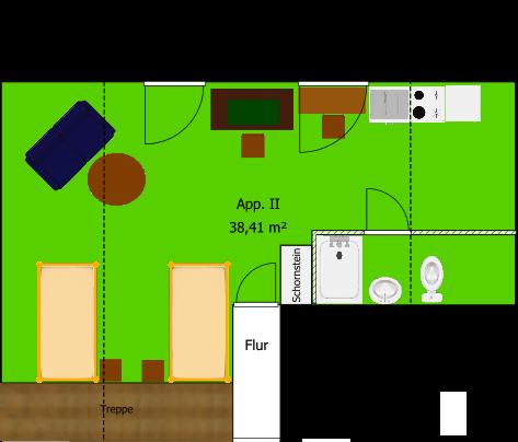 Nordberlin-Unterkunft - Apartment 2 - Grudriß