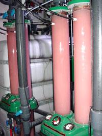 Entfärbung von Waschwasser, Ozon Entfärbung, Ozonbehandlung