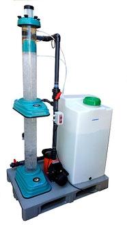 Ozonreaktor Versuchsanlage zum Gaseintrag