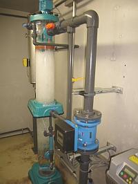 Ozon Reaktions Behälter mit Turbo Mischer