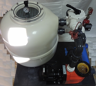 Filteranlagen für Schwimmbäder, Filterkomplettsystem