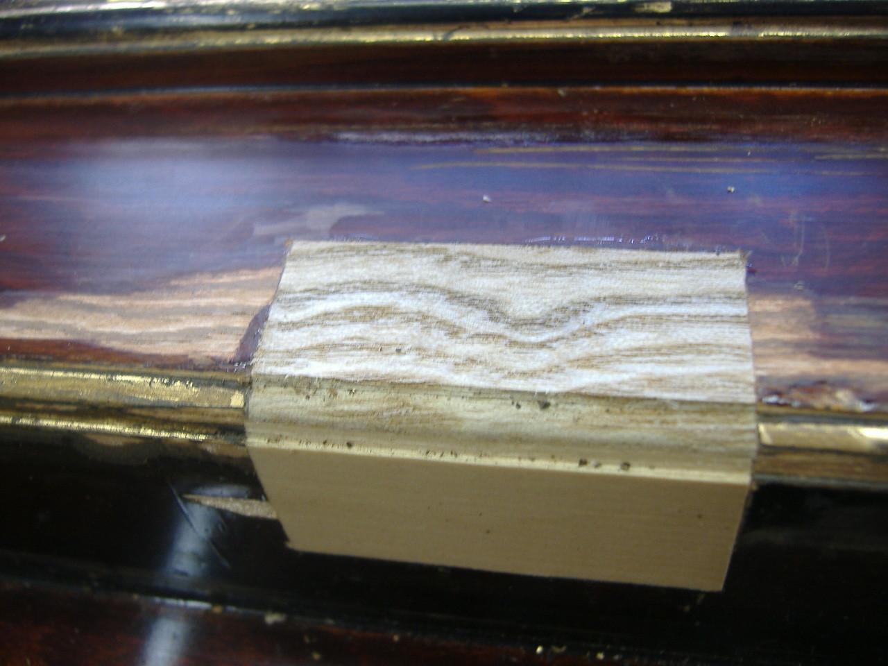 削り合わせた後に、目止めや着色をして下地工程に移ります。