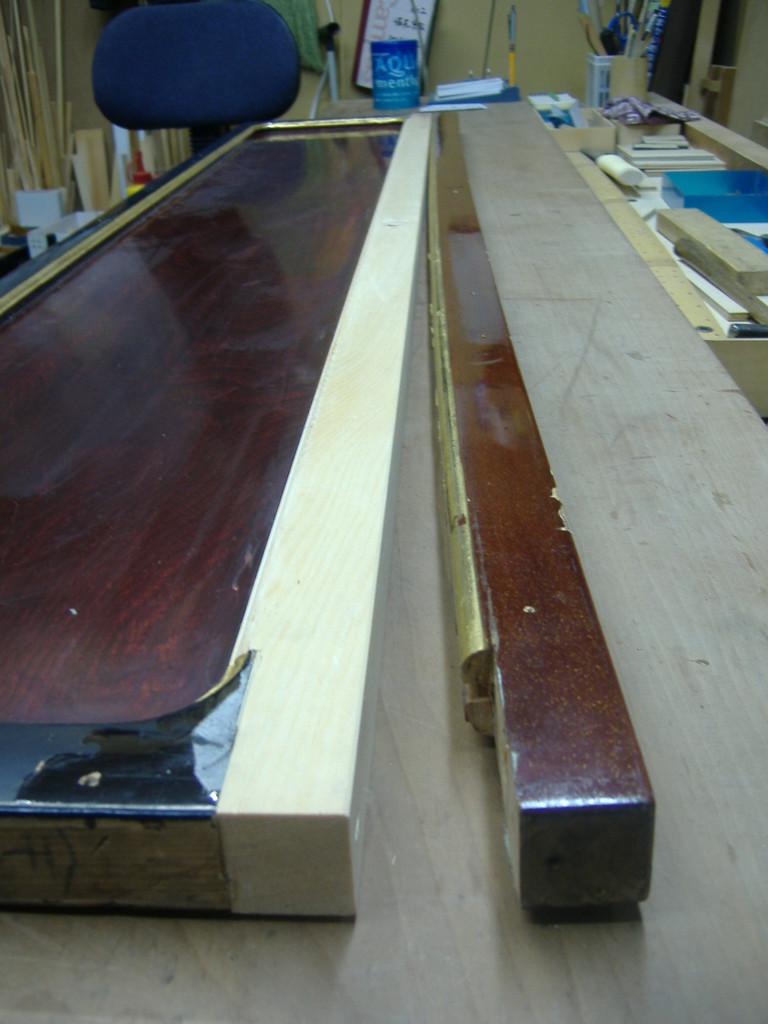 まさに弓なりに曲がっています。板溝や曲面など実物に合わせます