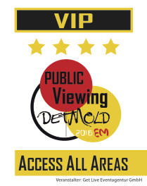 Acces All Areas Ausweiß VIP EM 2016 Public Viewing Detmold Get Live Eventagentur
