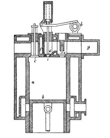 Kompressorloser Dieselmotor, Nürnberger Motor, NM, Patent Emil Vogel Nr 243 371