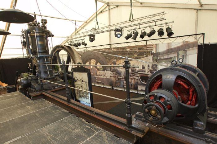 Historischer Dieselmotor DME 147, Baujahr 1907, der Gasmotoren-Fabrik Deutz; aktueller Standort