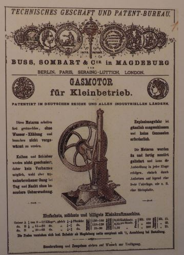 Früher Gasmotoren-Hersteller Buss, Sombart & Co., Magdeburg