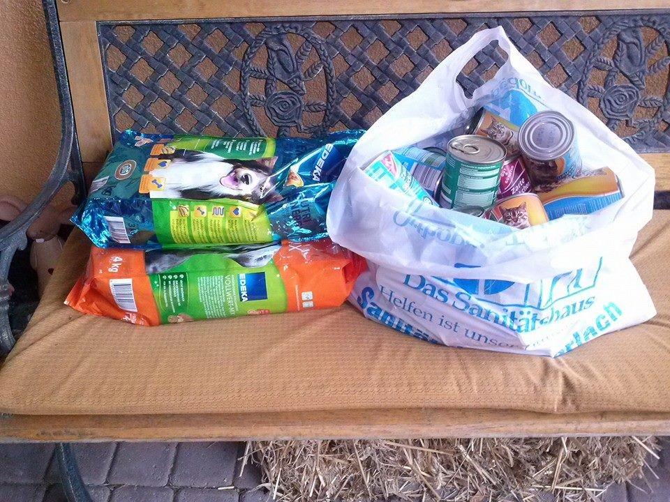 Spenden die angekommen sind im Jan. 2014
