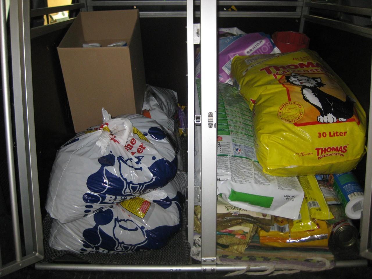 Spenden die angekommen sind im April 2013