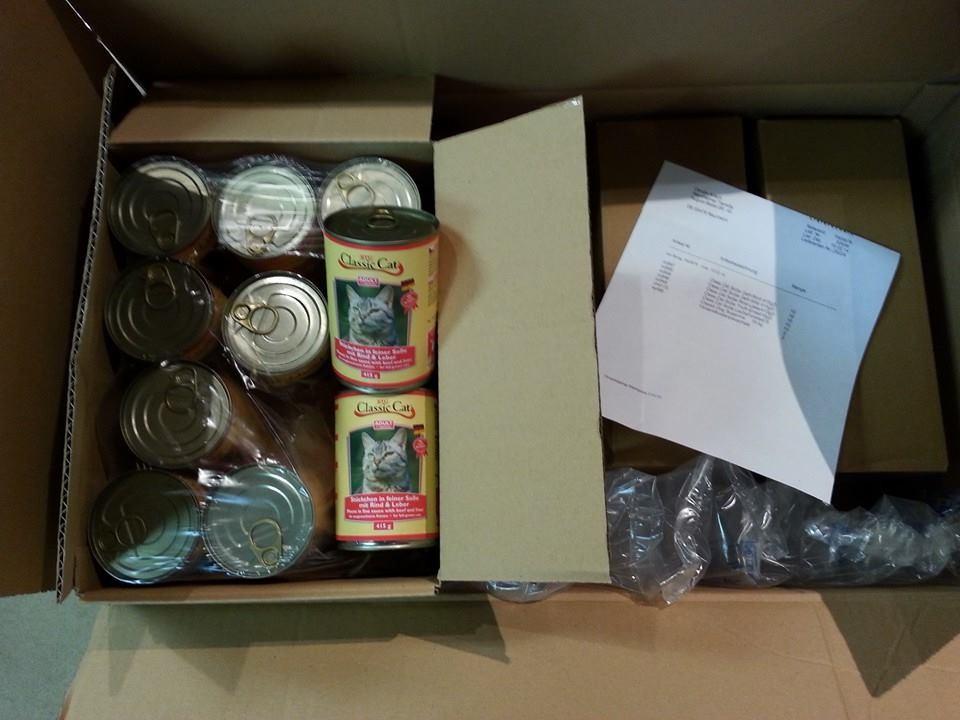 Spenden die angekommen sind im Feb. 2014