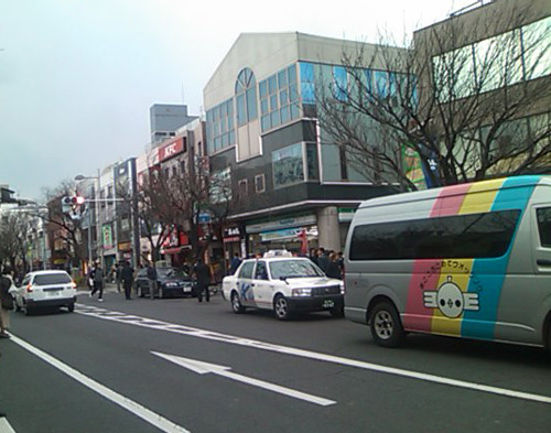 地震直後の桜新町