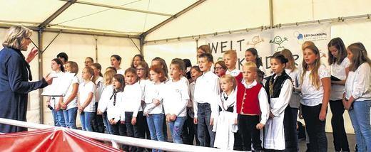 Gemeinschaftskinderchor SG Rhön-Grabfeld - Weltkindertag Bad Neustadt - 200914 Marianne Klemm