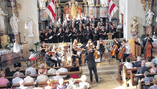 SV Mellrichstadt, Streicher BfM Bad Königshofen - Jubiläumskonzert - St. Kiliankirche Oberelsbach - 300612