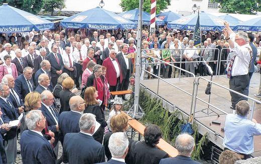Massenchor - 150 Jahre FSB / 90 Jahre Sängerkreis Schweinfurt - Oberelsbach 2012