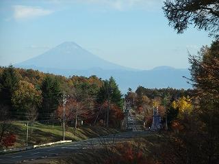 鉢巻道路から富士山を望む