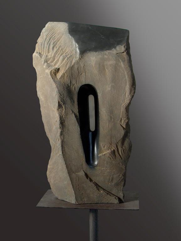 Lama nera - 2006 - Marmo nero e onice - 0,50 x 0,30 x 0,18 m