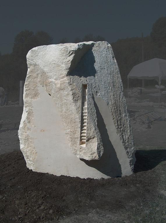SALISCENDI - 2006 - CALCARE E FOGLIA D'ORO - 2,40 X 1,40 X 1,20 M