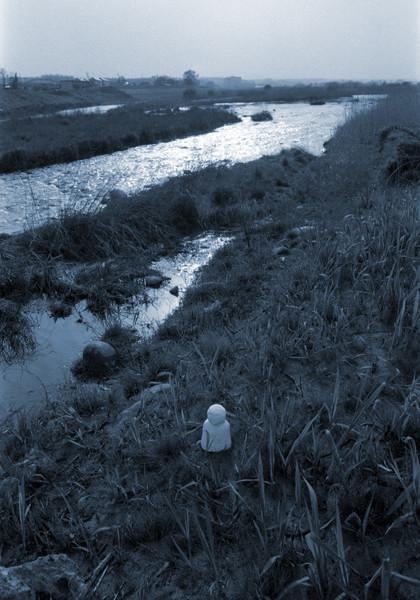 地蔵建立—立川市富士見町付近(多摩川編)[東京] Jizoing: Around Fujimi-cho, Tachikawa City (Tama River Series) [Tokyo], 1988