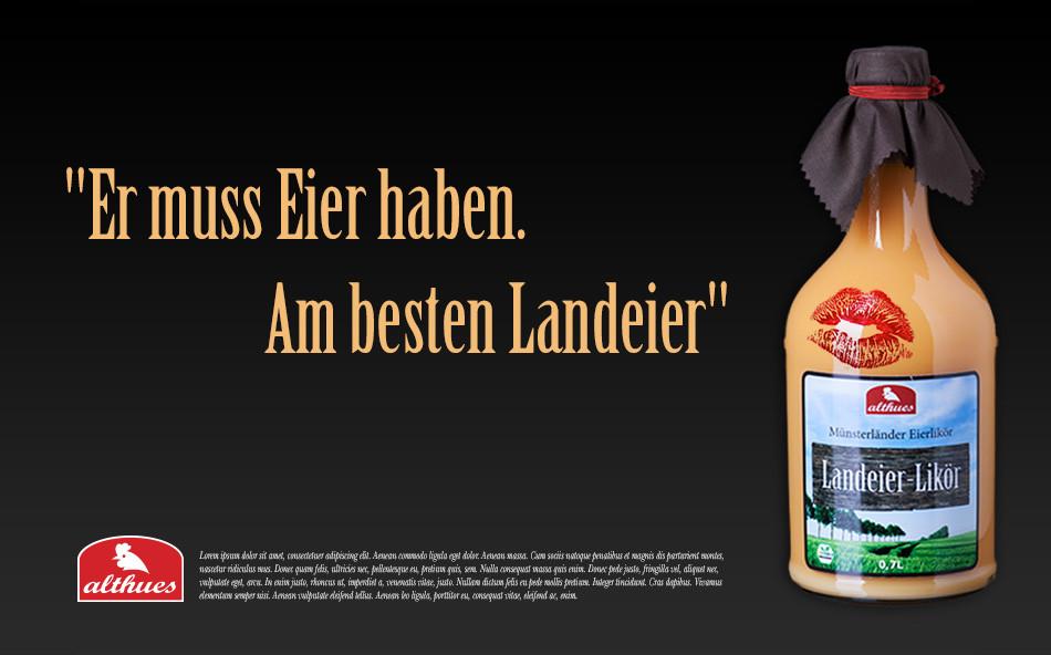 Plakatwerbung zur Einführungskampagne des Landei-Likör