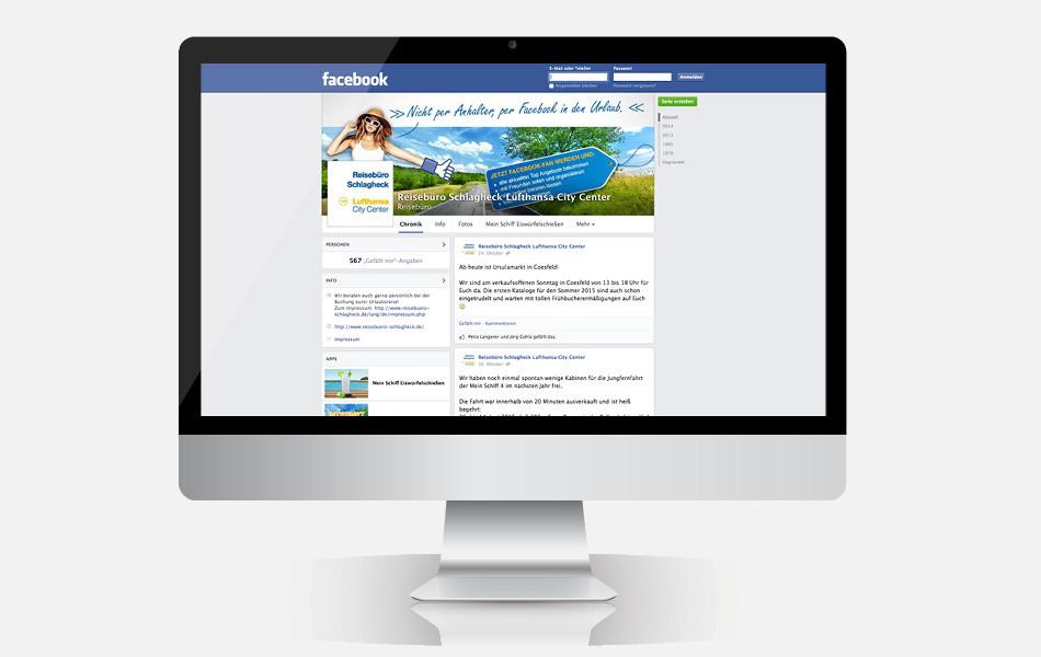 Facebook-Fanpage mit Gewinnspiel