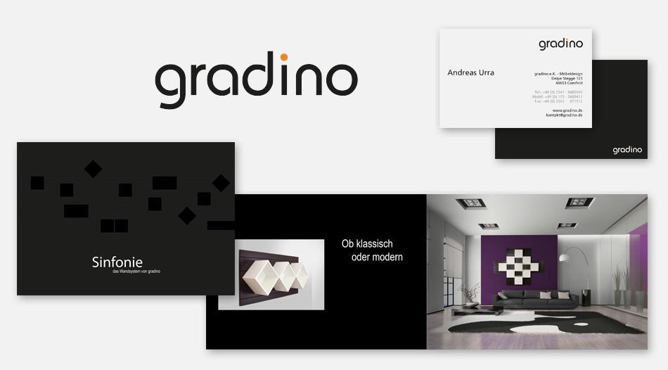 Logo, Corporate Design, Imagebroschur zu Gradino Sinfonie