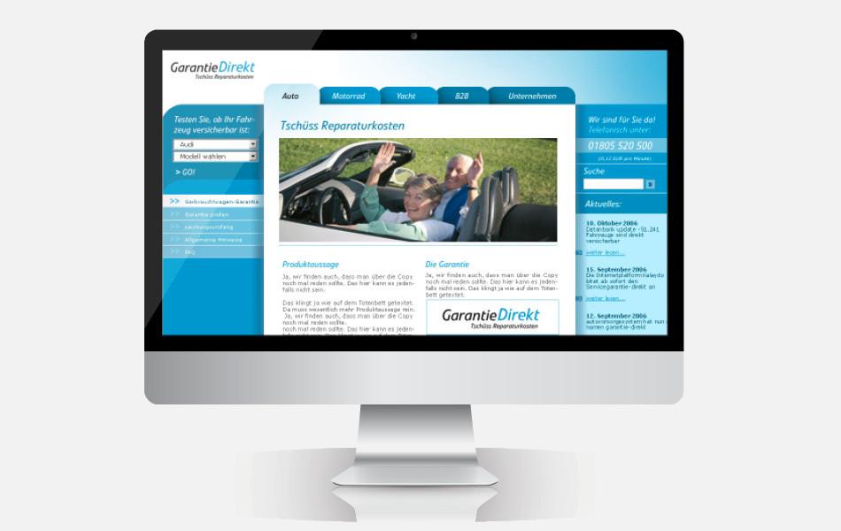Website der GarantieDirekt