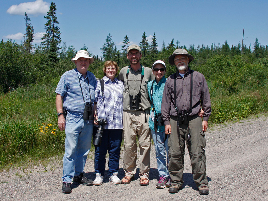 Two parties coming from very distant locations... and having a blast in Sax-Zim Bog (Cotton, MN)