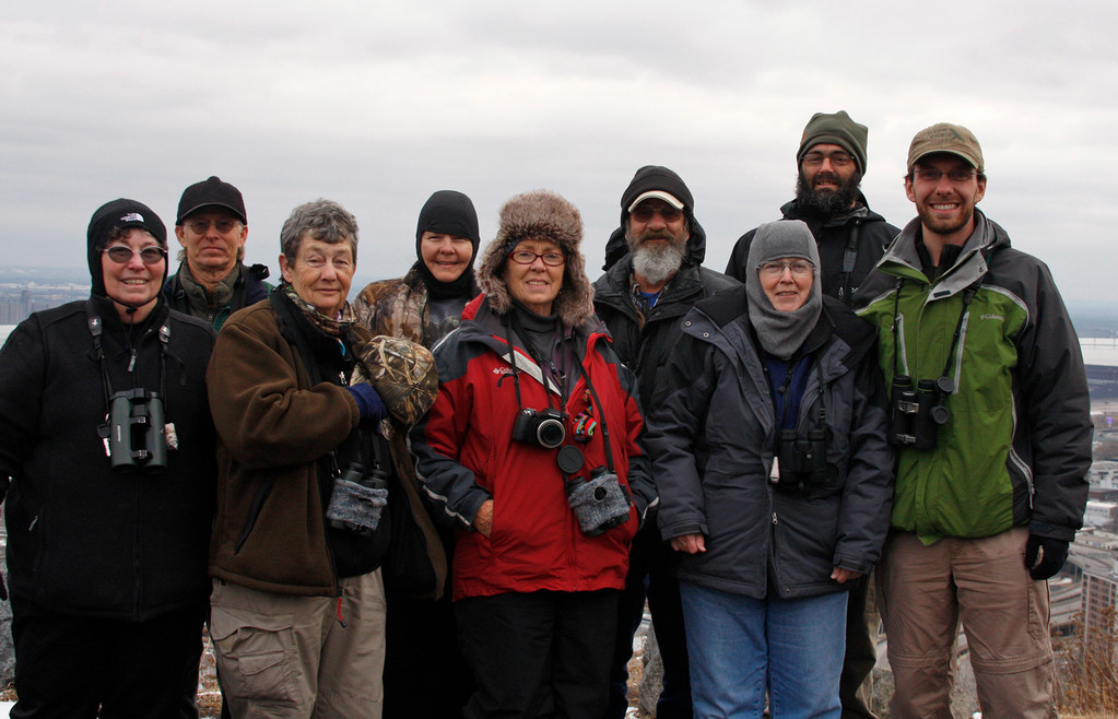 Wrapping up a day of birding the northwoods, with birders visiting from Missouri. (Duluth, MN)