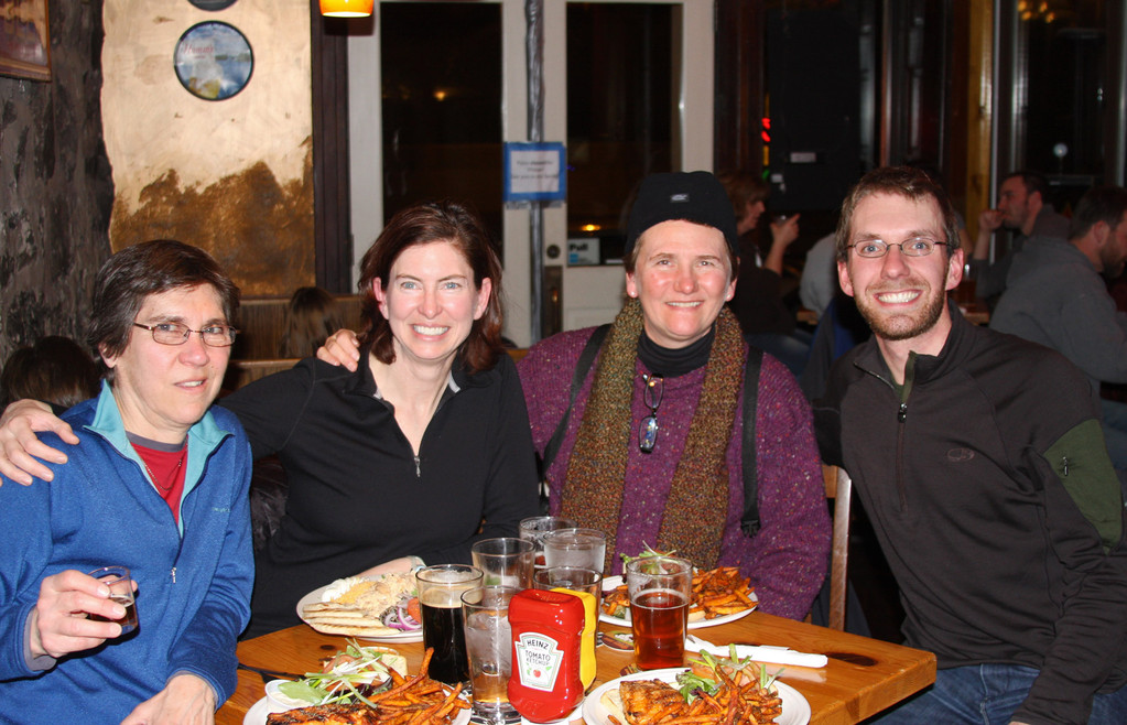 After a successful winter day of birding in the bogs, we went inside to have dinner at Fitger's Brewhouse (Duluth, MN)