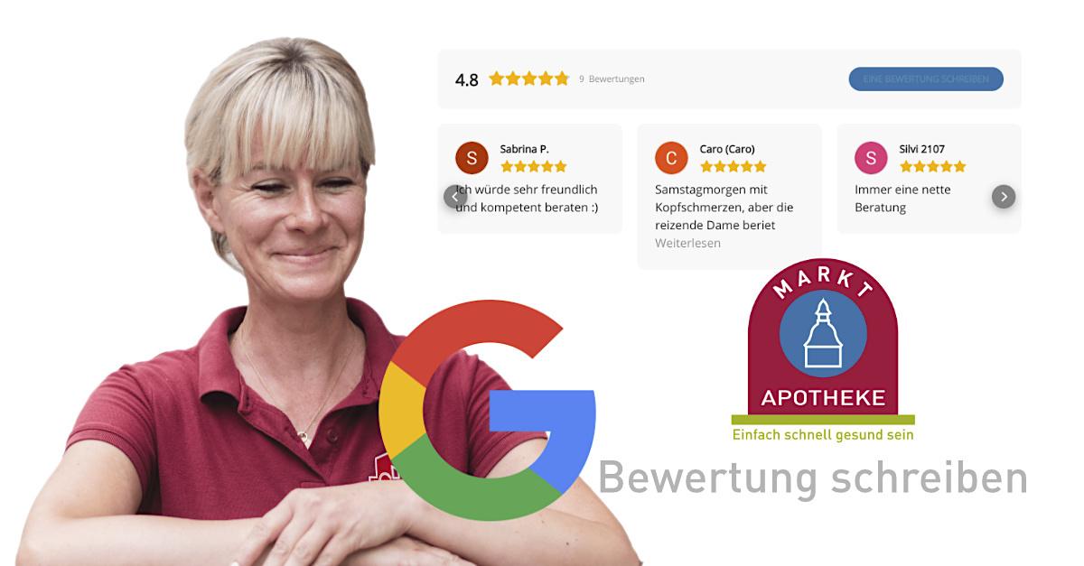 Markt Apotheke auf Google bewerten