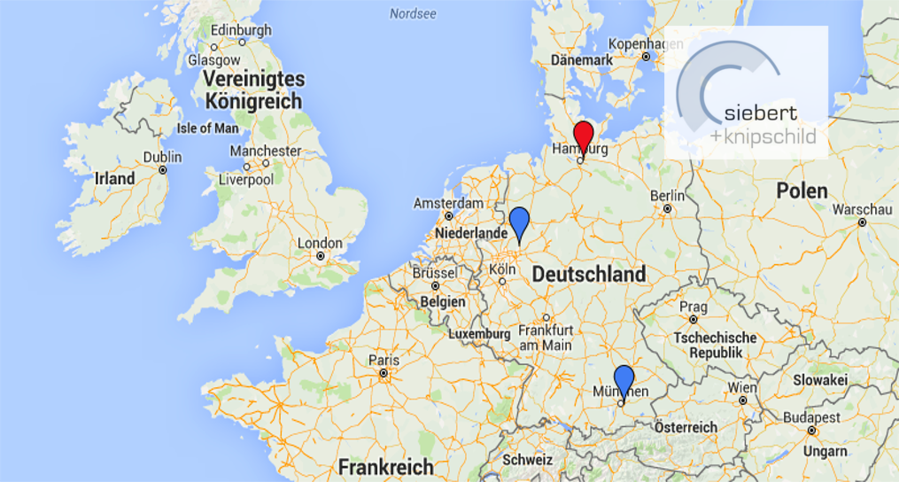 We are there for you at three German locations. Our clients come from all over the world.