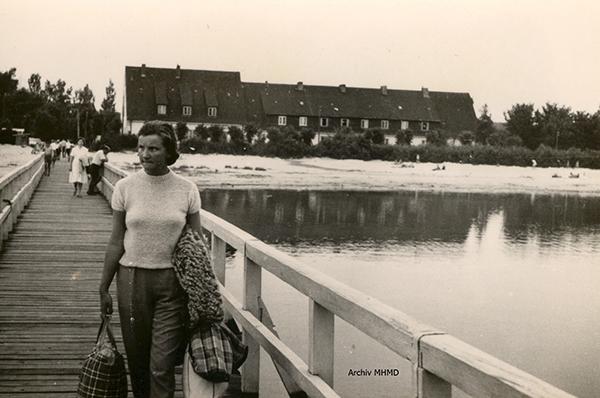 Anleger und Gaststätte Boddenblick Dranske 1957