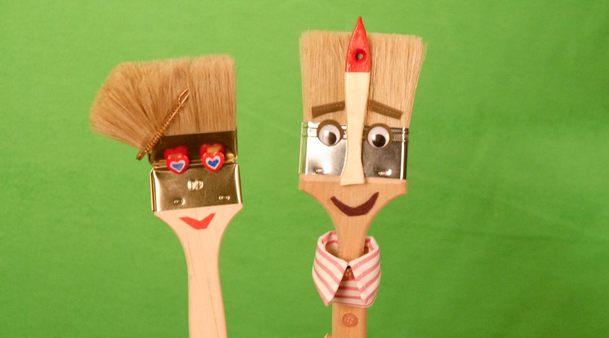 Puppen-Entwürfe für Schulungsfilme Hornbach