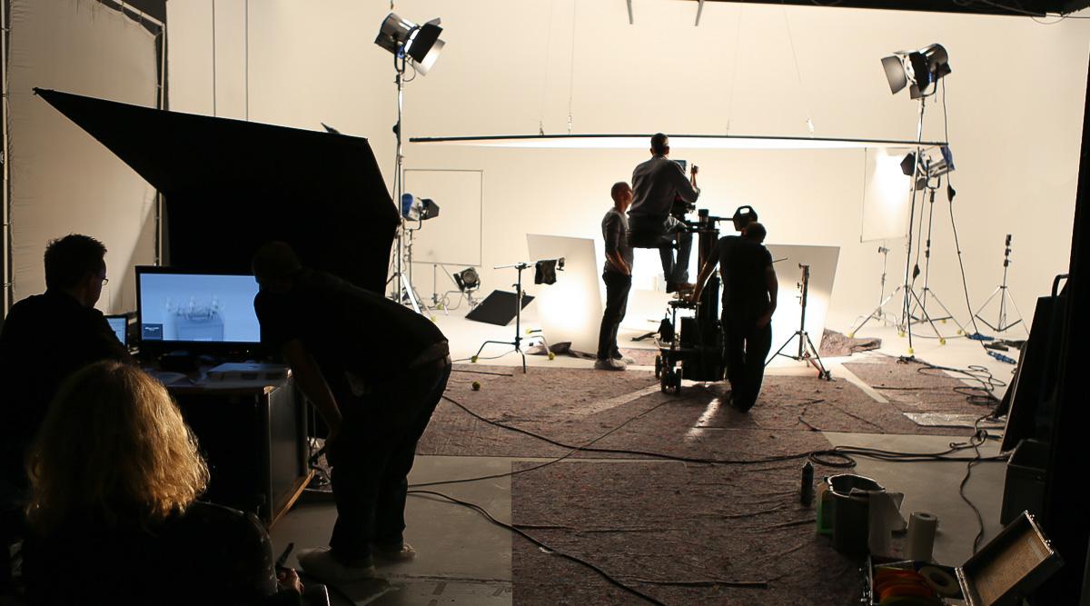 Studiodreh für ein Produktvideo